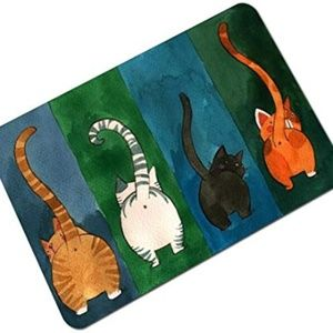 """OHYESS 24""""x 16"""" Chic Cute Cats Tail Painting Non-s"""